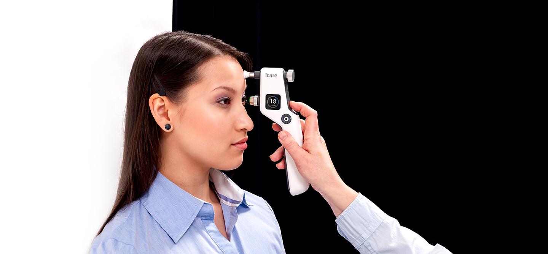 iCare IC100 silmänpaineen mittaus